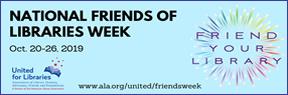 National Friends of Libraries Week width=