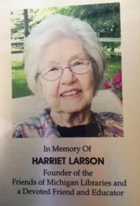 Harriet Larson Plaque