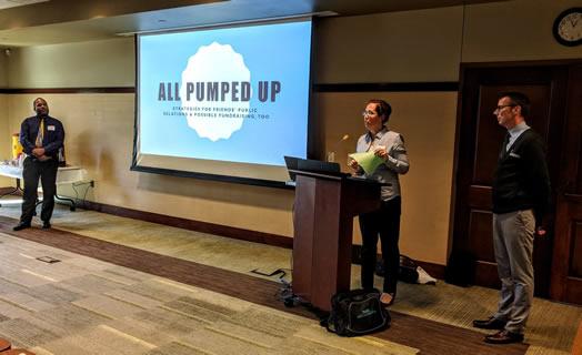 FOML President Allison Arnold